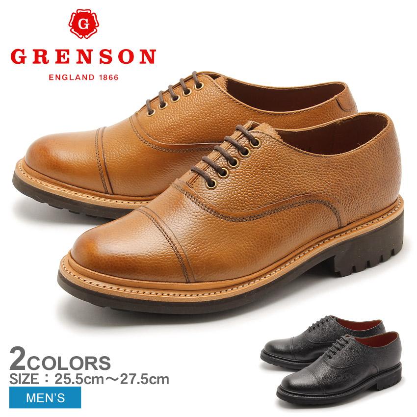 グレンソン GRENSON ルーベン ストレートチップ シューズ ブラック タン GRENSON 5301-426 5301-423 REUBEN メンズ 男性 短靴 内羽根 コマンドソール レザーシューズ