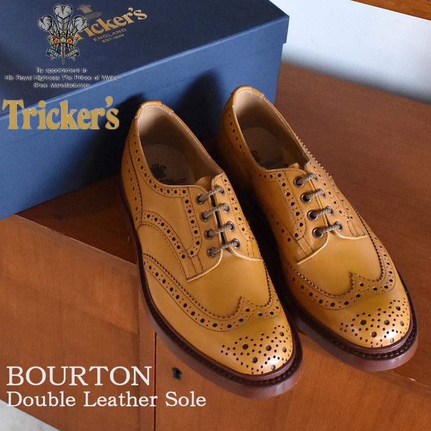 TRICKER'S トリッカーズ カジュアルシューズ ブラウン バートン BURTON 5633/4 茶色 ビジネス パーティー ウィングチップ おしゃれ 短靴 革靴 本革 メンズ 男性用