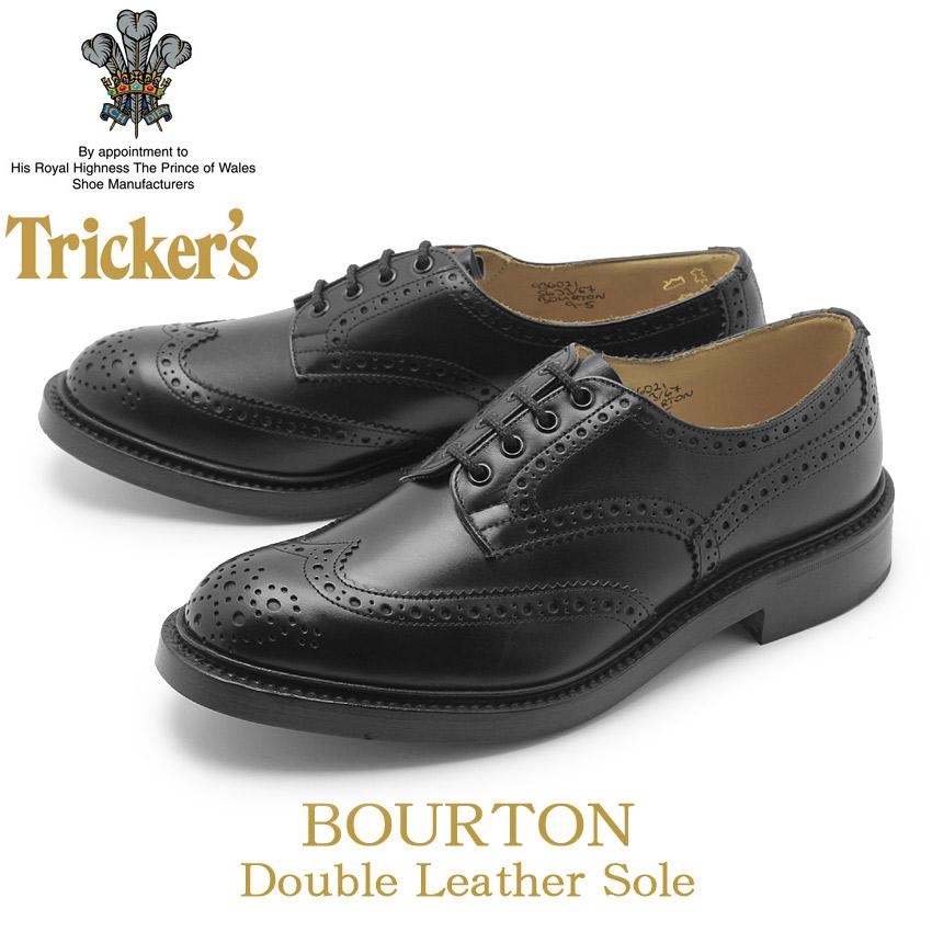 【最大8181円OFFクーポン配布】 TRICKER'S トリッカーズ カジュアルシューズ ブラック バートン BOURTN 5633/67 黒 ビジネス パーティー ウィングチップ おしゃれ 短靴 革靴 本革 メンズ 男性用 父の日ギフト スーパーセール