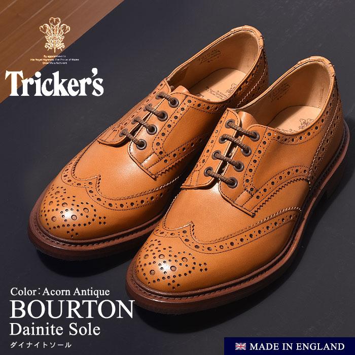 トリッカーズ カントリー バートン ダイナイトソール ライトブラウン (TRICKER'S COUNTRY BOURTON DAINITE) ウィングチップ ウイング カジュアルシューズ 革靴 短靴 メンズ 男性 誕生日プレゼント 結婚祝い ギフト おしゃれ
