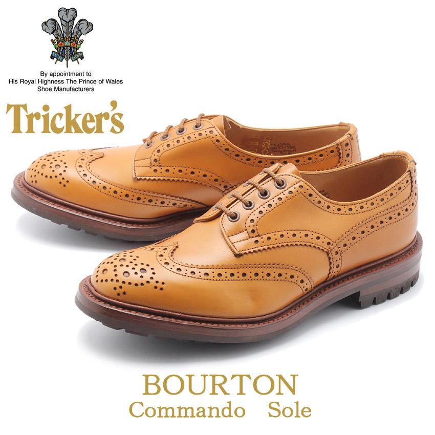 TRICKER'S トリッカーズ カジュアルシューズ ブラウン バートン BOURTON 5633 メンズ 靴 シューズ 紳士靴 短靴 レザーシューズ 革靴 コマンドソール レザー 誕生日 プレゼント ギフト