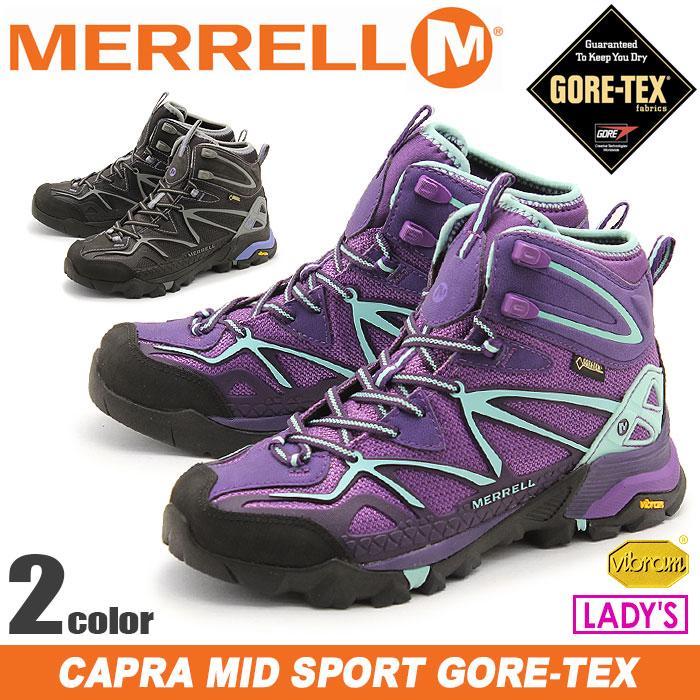 メレル カプラ ミッド スポーツ ゴアテックス (MERRELL CAPRA MID SPORT GORE-TEX) アウトドア ハイキング コンフォート トレイル スニーカー シューズ 靴 レディース 女性 誕生日プレゼント 結婚祝い ギフト おしゃれ
