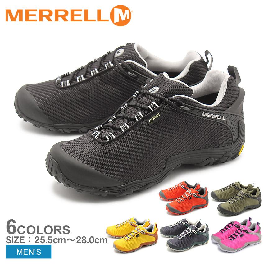 MERRELL メレル トレッキングシューズ カメレオン7 ストーム ゴアテックス CHAMELEON7 STORM GORE-TEX J36475 J36479 メンズ 靴 ブランド シューズ ハイキング ウォーキング スポーティ 山登り 登山 防水 黒 黄