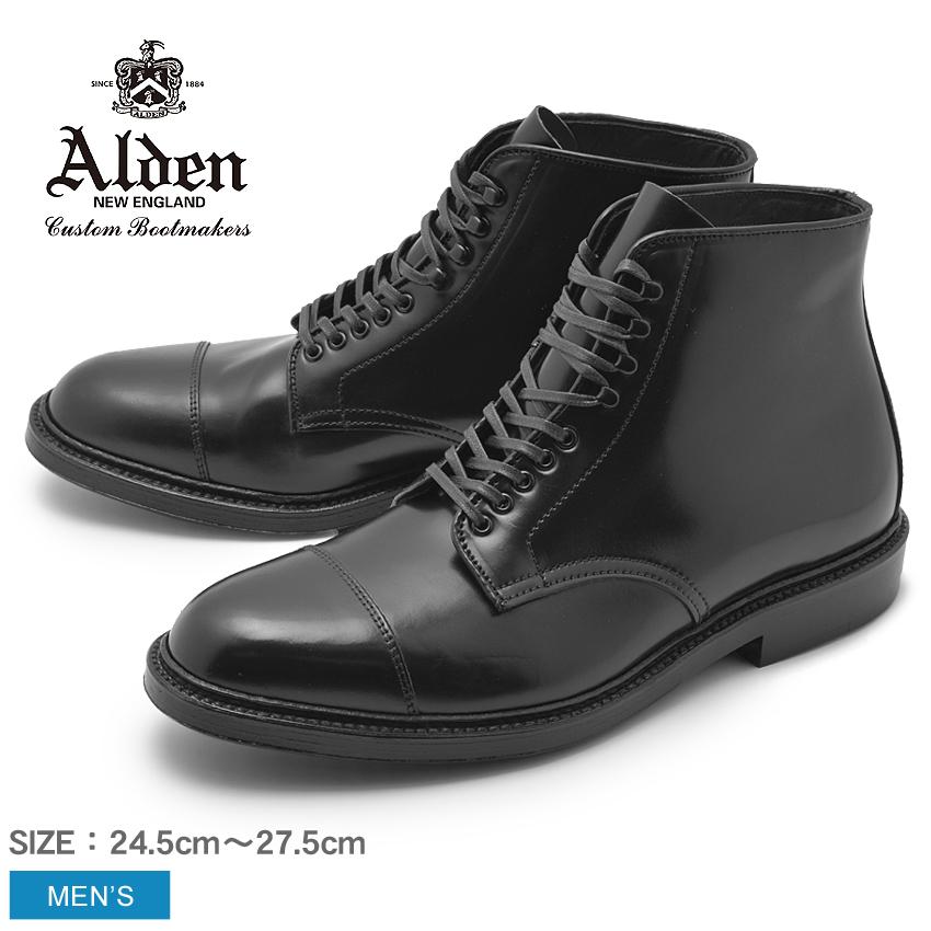 【max1000円OFFクーポン配布】ALDEN オールデン ブーツ ブラック ストレートチップ ブーツ STRAIGHT CHIP BOOT メンズ シューズ トラディショナル ビジネス フォーマル 馬革 革靴 靴 紳士靴 黒 誕生日 プレゼント ギフト 父の日