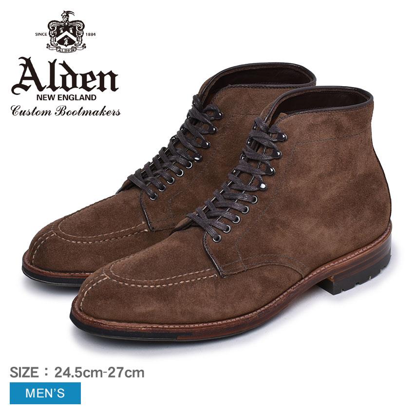 【限定クーポン配布】オールデン タンカーブーツ ブーツ ALDEN TANKER BOOT メンズ M7909 CY ブラウン 茶 靴 シューズ コードバン おしゃれ 人気 トラディショナル ビジネス フォーマル 馬革 革靴 靴 紳士靴 誕生日 プレゼント ギフト