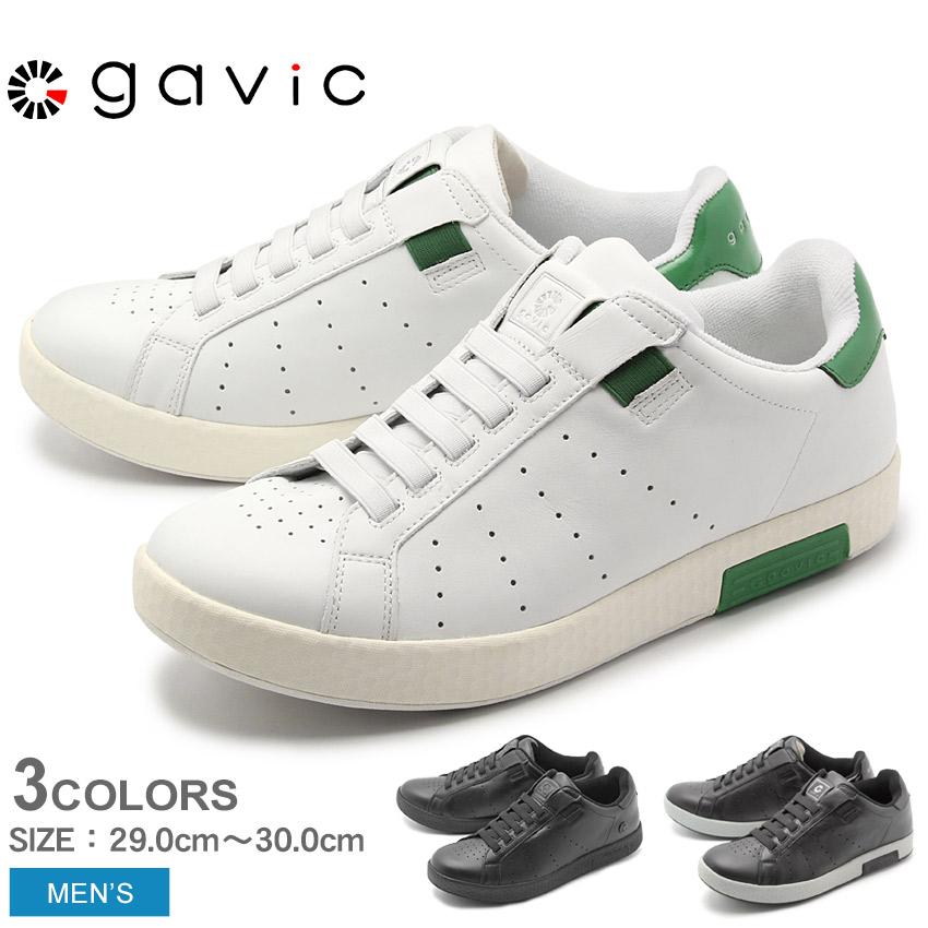 GAVIC LIFE STYLE ガビック スニーカー ゼウス BIGサイズ ZEUS GVC001 メンズ 男性 靴 黒 白 通勤 通学 本革 カジュアル ローカット 大きいサイズ シンプル スリッポン