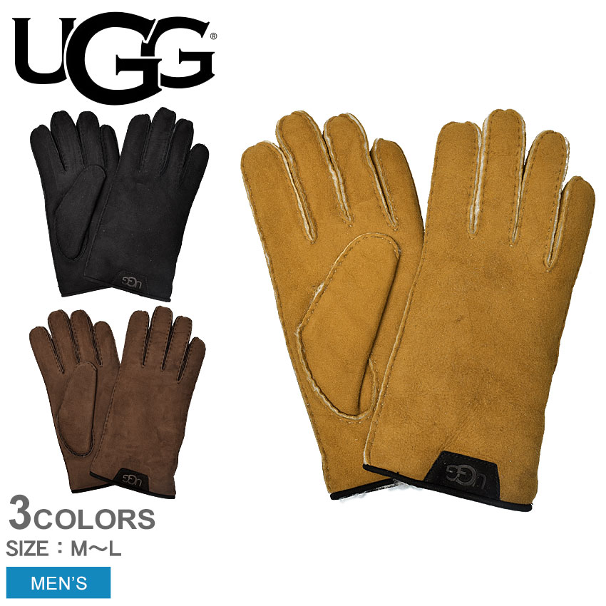 【メール便可】UGG アグ 手袋 シープスキン グローブ W SHEEPSKIN GLOVE W 17392 メンズ 黒 ブラック ブラウン 革小物 レザー 防寒 シープスキン おしゃれ 誕生日 プレゼント ギフト