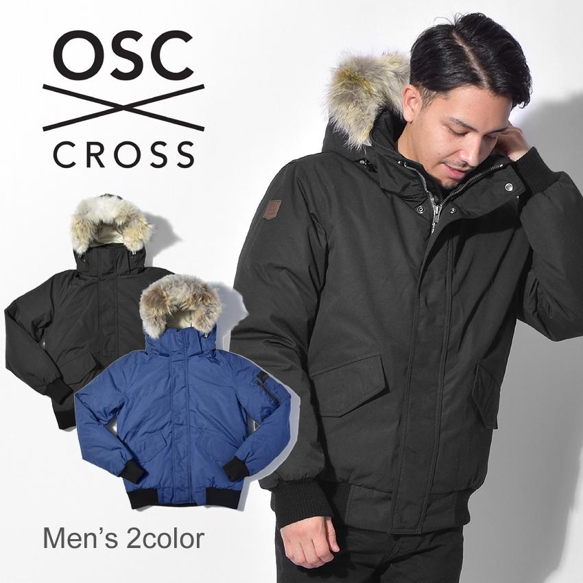 OSC CROSS オーエスシークロス ダウンジャケットデボン ダウン アウター 上着 ファー フード 黒 ブラック DEVONM10CX メンズ 誕生日 プレゼント ギフト