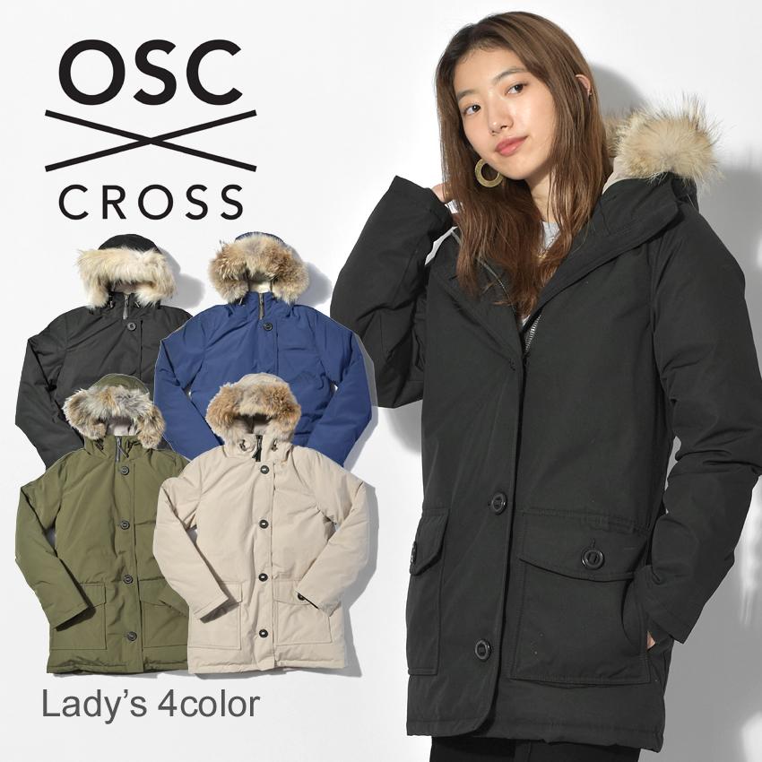 OSC CROSS オーエスシークロス ダウンジャケットローズデール ブラック 黒 ダウン フード ファー アウター 上着 ROSEDALEW52CX レディース 誕生日 プレゼント ギフト
