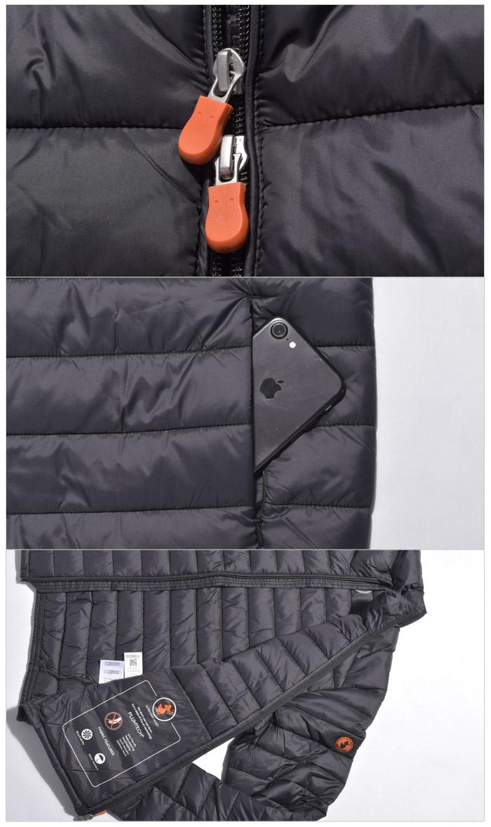 セイブ ザ ダック ギガ 5 ジャケット (save the duck giga5 jacket S3243M) 軽量 冬 防寒 保温 暖かい カジュアル 長袖 アウター コート トラベル ショート ウェア ダウン 黒 メンズ 男性 ギフト 誕生日 結婚祝い