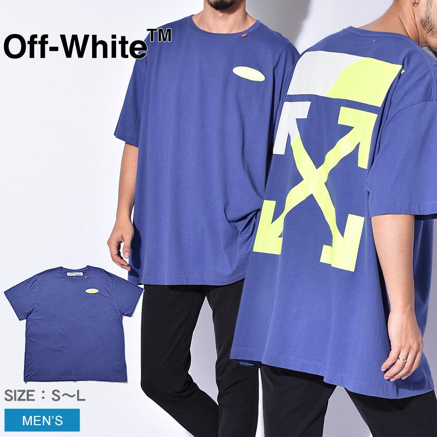 OFFWHITE オフホワイト ブルー 半袖Tシャツ スプリット ロゴ S/S オーバー Tシャツ SPLIT LOGO S/S OVER TEE メンズ ブランド 高級 カジュアル ストリート トップス オシャレ 個性 青 誕生日 プレゼント ギフト