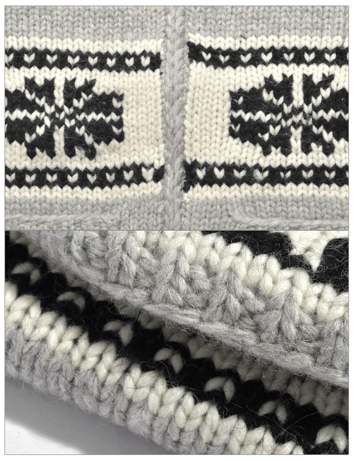 カナタ カウチン セーター 雪柄 (KANATA 6PLYWOOL SWEATER SNOW) ジップ スノー ニット アウター カーディガン カナダ 製 メンズ 男性 レディース 女性 誕生日プレゼント 結婚祝い ギフト おしゃれ