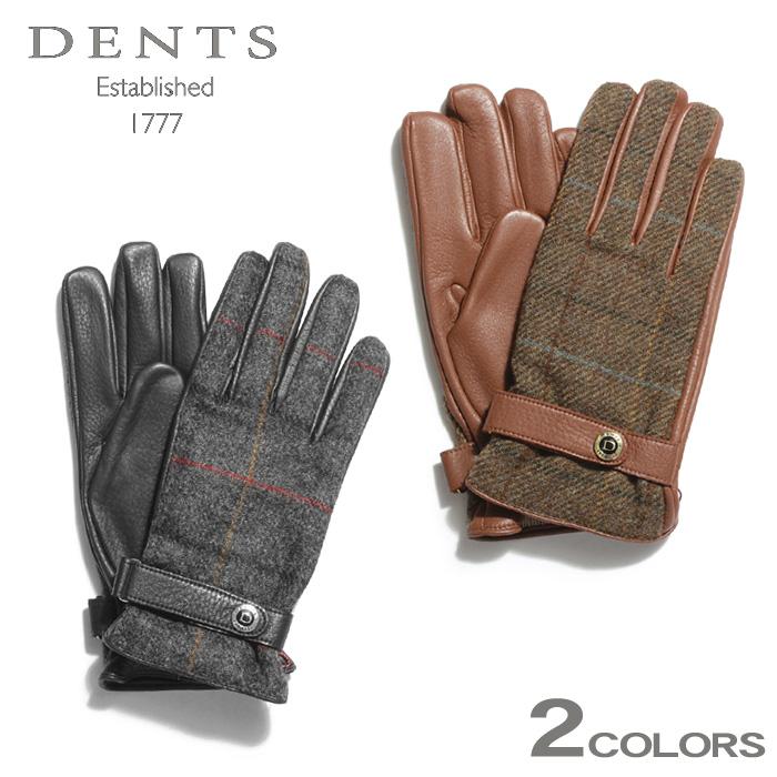 デンツ マンチェスター レザー グローブ (dents manchester leather gloves 15-1629) 冬 ウィンター 防寒 暖かい チェック ツイード ヘアシープ 本革 小物 ビジネス 通勤 メンズ 男性 内祝い 誕生日プレゼント 結婚祝い ギフト おしゃれ