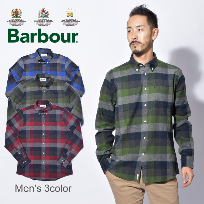 【max1000円OFFクーポン配布】BARBOUR バーブァー ネルシャツ ステープルトン アンガス シャツ チェックトップス STAPLETON ANGUS MSH4070 BL52 GN18 GY52 メンズ 誕生日 プレゼント ギフト 父の日