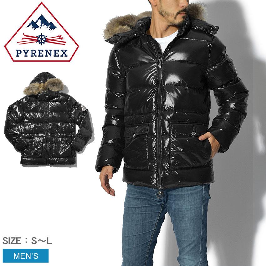 PYRENEX ピレネックス ダウンジャケット ブラックヴィンテージ オーセンティック ジャケット シャイニー ダウン アウター 上着 フード ファー ブラック 黒 VINTAGE AUTHENTIC JACKET SHINYHMK007 0009 メンズ 誕生日 プレゼント ギフト