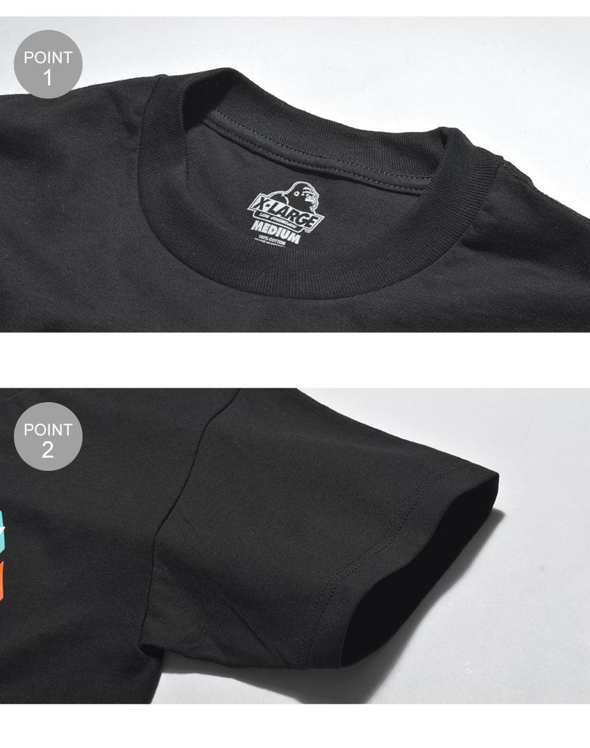 返品不可  X-LARGE エクストララージ 半袖Tシャツ レーンズ 半袖Tシャツ LANES SS TEE M18A1110 メンズ 誕生日プレゼント 結婚祝い ギフト おしゃれ