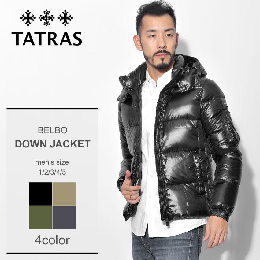 TATRAS タトラス ダウンジャケット ダウン ブラック 黒 ベルボ BELBO MTA19A4562 アウター フード シンプル メンズ 誕生日 プレゼント ギフト