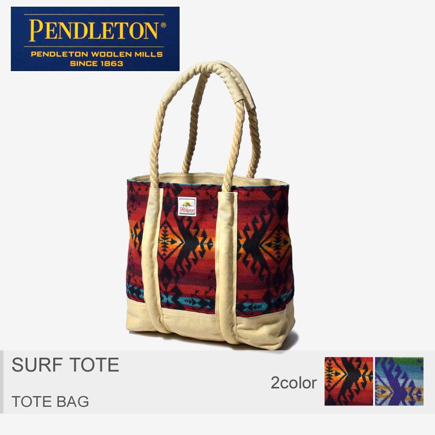 PENDLETON ペンドルトン トートバッグ サーフ トート 小物 SURF TOTE DB109 15798 15800 メンズ レディース BAG バック ネイティブアメリカン ビーチバッグ サーフィン 海 柄 鞄 大容量 赤 青 黒 幾何学 ウール ロープ