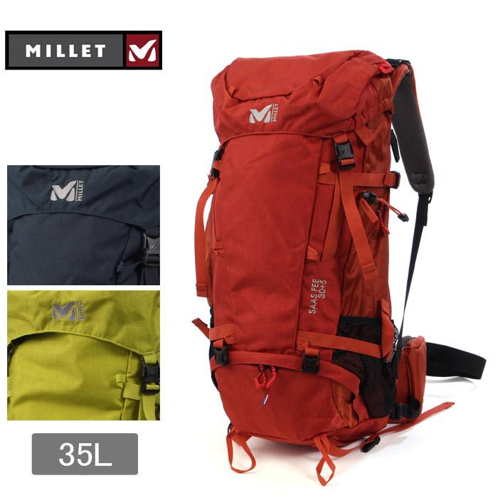 ミレー MILLET サースフェー バックパック 35L (MILLET MIS2048 7317 7093 3689 SAASFEE 30+5) リュックサック デイパック バッグ かばん 鞄 ユニセックス バック 通勤 通学 高校生 女子 大容量 ギフト おしゃれ