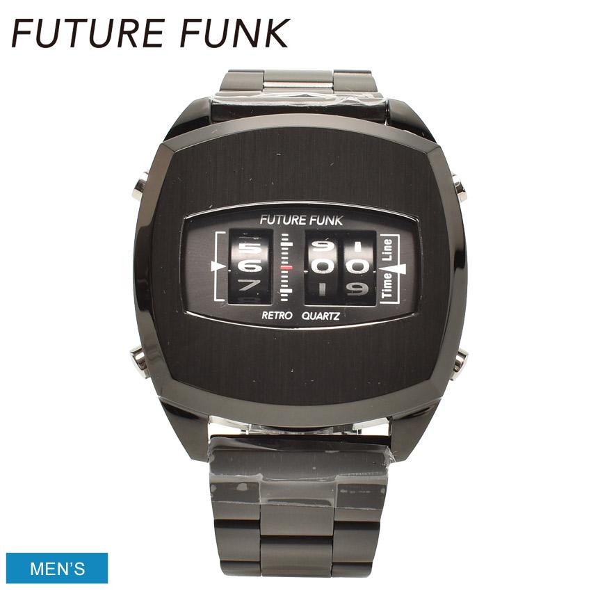 FUTURE FUNK フューチャー ファンク 腕時計 ブラック FF101-BK-MT メンズ ブランド ウォッチ アナログ ギフト プレゼント ベルト 黒 通勤 通学 防水 おしゃれ かっこいい 誕生日 プレゼント ギフト