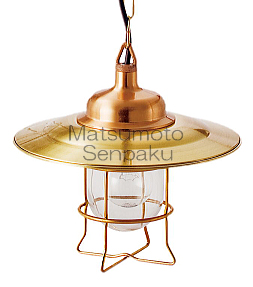松本船舶照明器具 マリンランプ 2S-LV-G (2S型リビングライト ゴールド) ペンダント 白熱灯