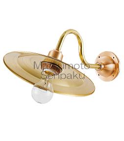 松本船舶照明器具 マリンランプ 2S-MR-G (2S型マリンライト ゴールド) ブラケット 一般形 ランプ別売 白熱灯