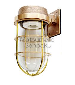 松本船舶照明器具 マリンランプ R2-FR-G (R2号フランジ ゴールド) 屋外灯 その他屋外灯 LED