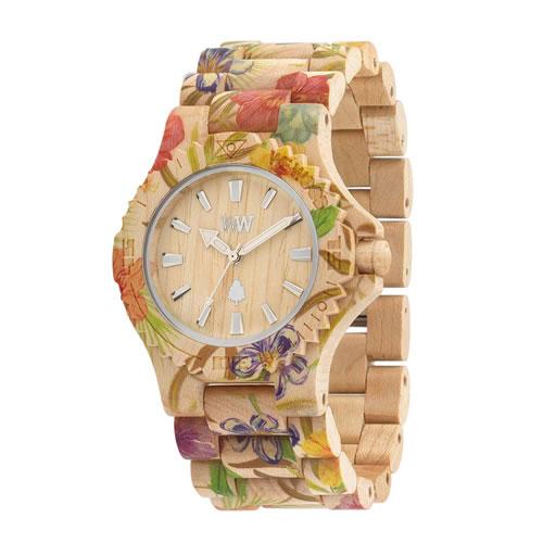 木製 木の時計 ウィーウッド WEWOOD DATE FLOWER BEIGE 送料無料