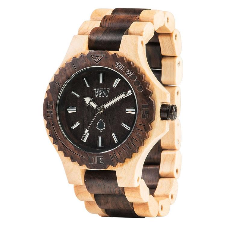 木製 木の時計 ウィーウッド WEWOOD DATE BEIGE CHOCO 送料無料