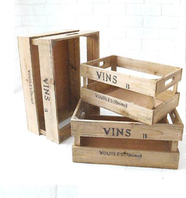 【アンティーク 木箱】ガーデンスプリットボックス・3点セットガーデニング好きに
