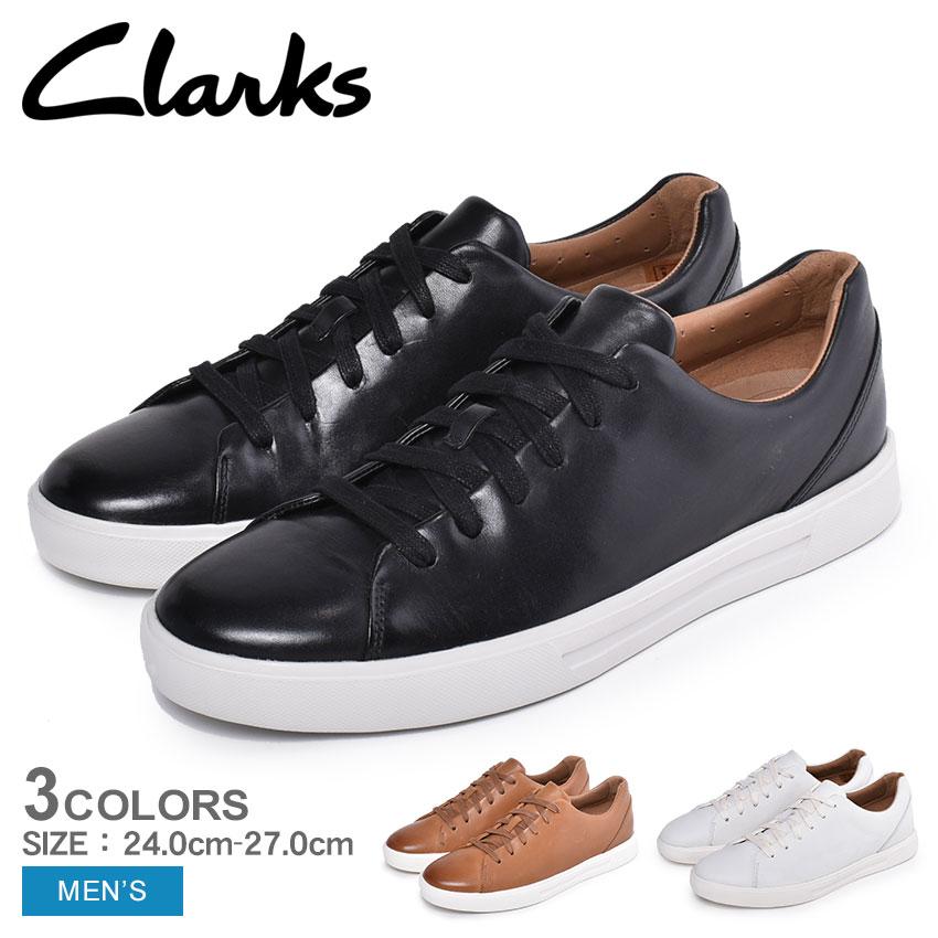 CLARKS クラークス シューズ アン コスタ レース UN COSTA LACE メンズ 靴 スニーカー カジュアル 本革 革 シューレース スポーツ クラシック レースアップ 黒 白