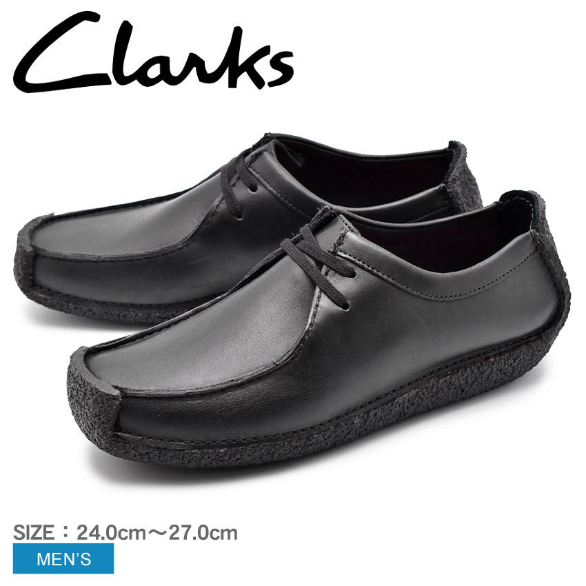 【年末年始SALE開催中】送料無料 CLARKS クラークス ナタリー カジュアルシューズ メンズ ブラック NATALIE 26133272