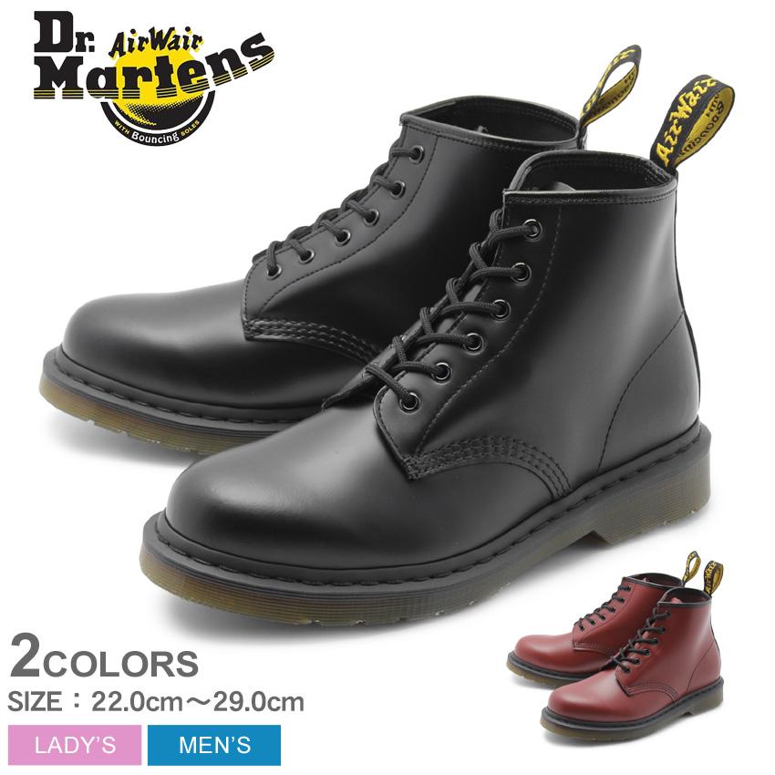 DR.MARTENS ドクターマーチン ブーツ 101 6ホール ブーツ 101 6EYE BOOT 24255001 24255600 メンズ レディース 靴 シューズ マーチン ブランド レザー ハイカット おしゃれ お出かけ 人気 定番 ブラック 黒