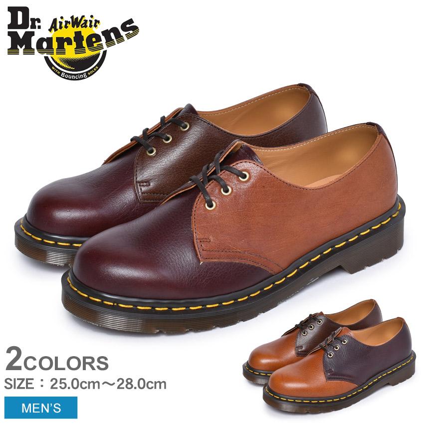 DR.MARTENS ドクターマーチン イギリス製 英国 1461 KUDU CLASSIC 3ホール シューズ クードゥ メンズ 25272477 25273253 コラボ チャールズ・F・ステッド ブランド レザー ブラウン 紳士靴 フォーマル 革靴 短靴 おしゃれ フルグレインレザー