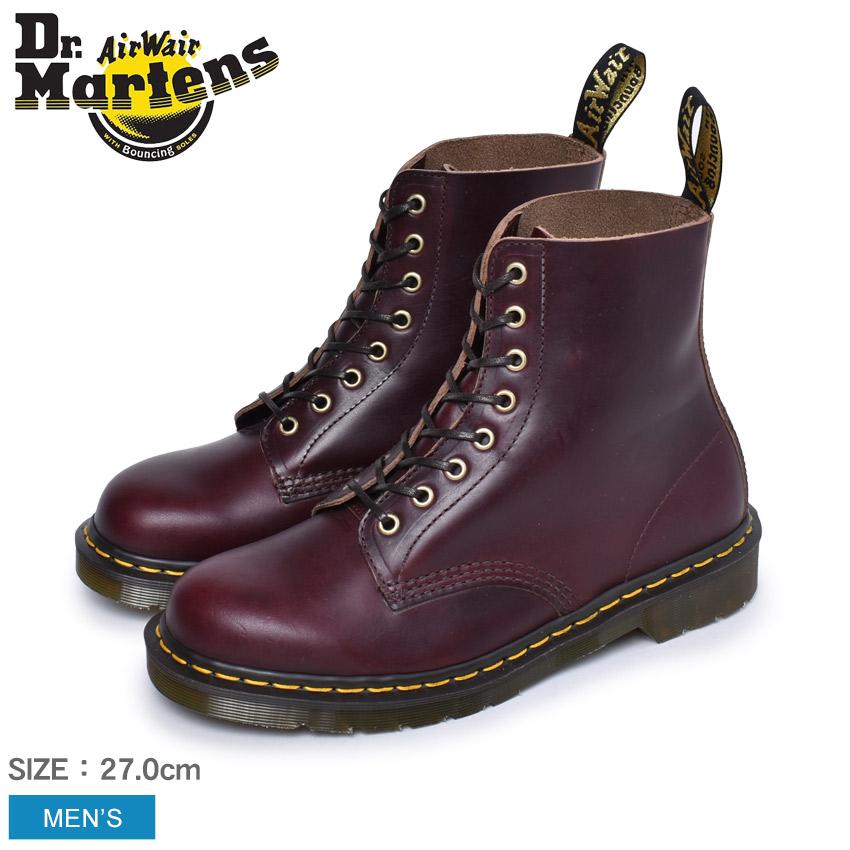 ドクターマーチン イギリス製 1460 8ホール ブーツ メンズ パスカル DR.MARTENS PASCAL 8EYE BOOT 24196606 マーチン レザー イングランド 英国 カジュアル ワークブーツ おしゃれ ブラウン 茶色 レッド