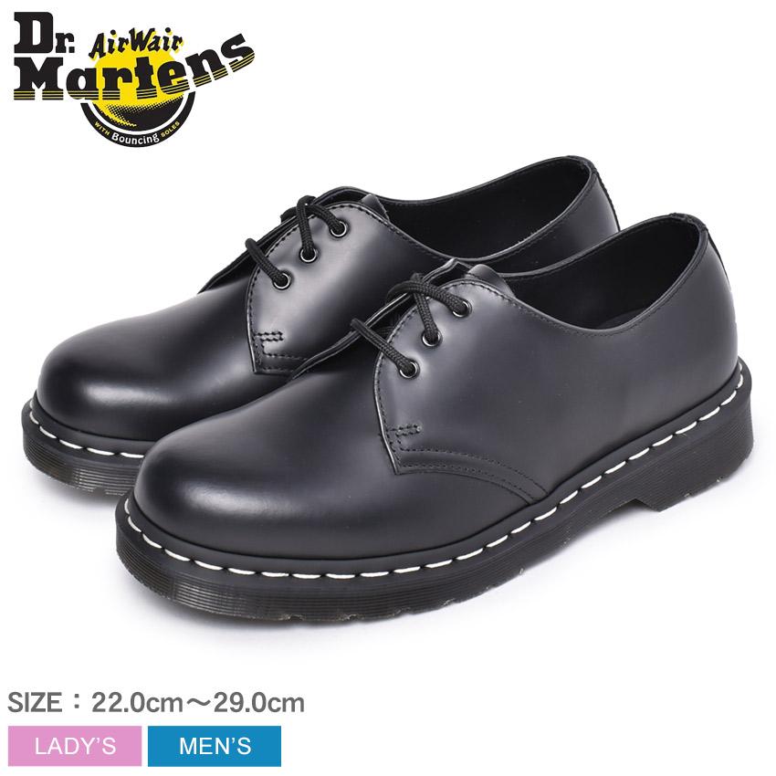 ドクターマーチン シューズ メンズ レディース 1461 ホワイトステッチ 3ホールシューズ DR.MARTENS 1461 WHITE WELT 3EYE SHOE 24757001 靴 シューズ カジュアル ローカット 人気 定番 モノトーン おしゃれ 短靴 ブラック 黒