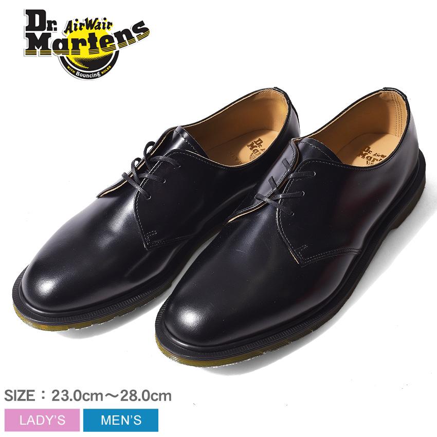 DR.MARTENS ドクターマーチン 革靴 ブラック アーチー MIE クラシック 3ホール シューズ ドレスシューズ ARCHIE MIE CLASSICS 3EYE SHOE 14348001 メンズ
