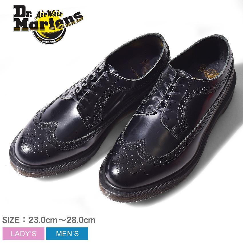 DR.MARTENS ドクターマーチン 革靴 ブラック クラシック ブローグ シューズ 3989 MIE CLASSICS BROGUE SHOE 16500001 メンズ