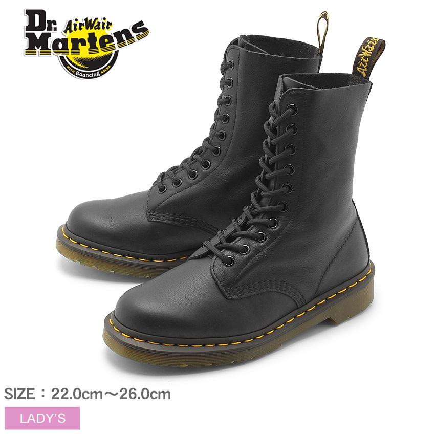 送料無料 DR.MARTENS ドクターマーチン ブーツ ブラック1490W 10ホール ブーツ 1490W 10EYE BOOTR22524001 レディース