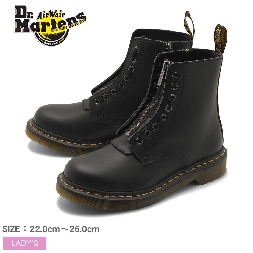 送料無料 DR.MARTENS ドクターマーチン ブーツ ブラック1460 パスカル フロント ジップ 8ホール ブーツ 1460 PASCAL FRONT ZIP 8EYE BOOT 23863001 レディース