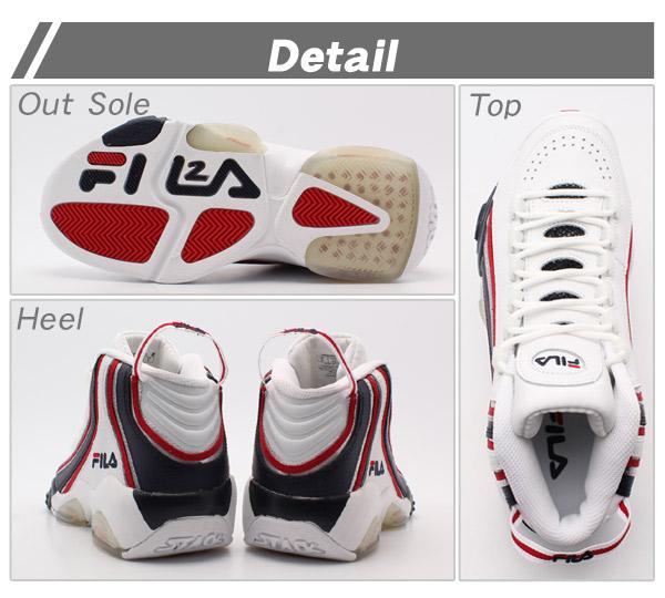 Fila Fila sneakers basketball shoes FILA stack 2 Jerry Stackhouse white (FILA 1VB90065-127 STACK 2 JERRY STACKHOUSE) mens (for men)