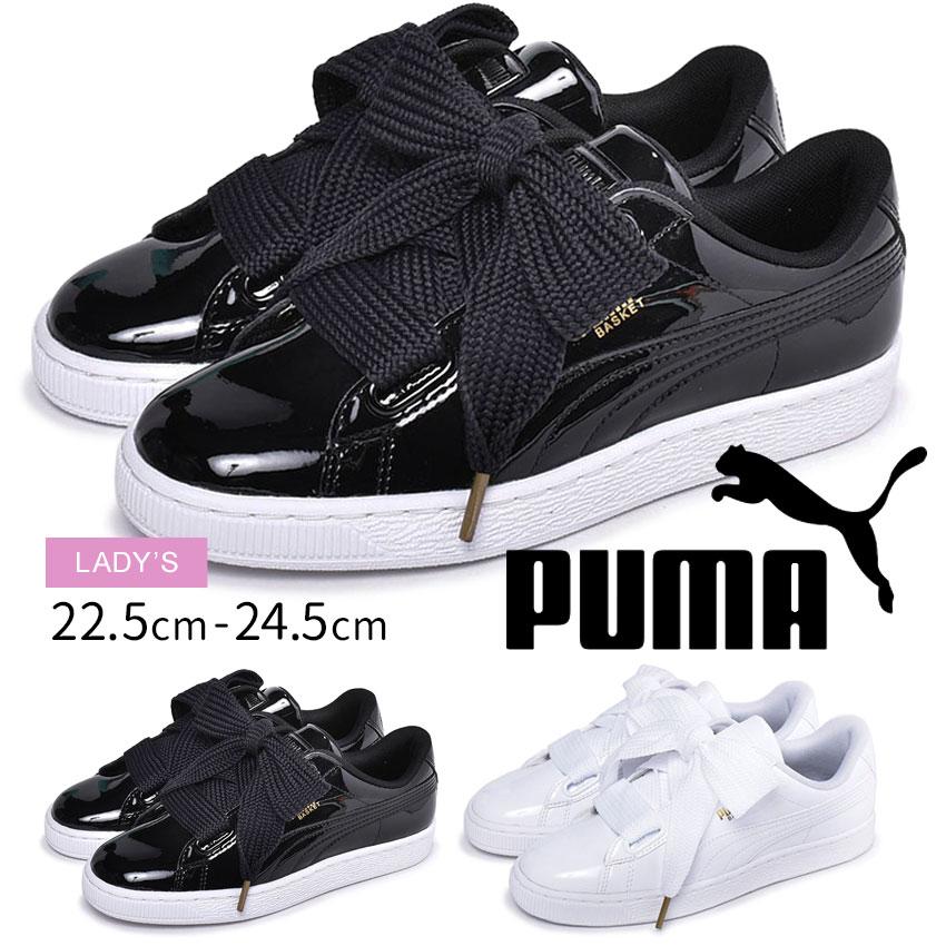 puma sneakers basket heart patent