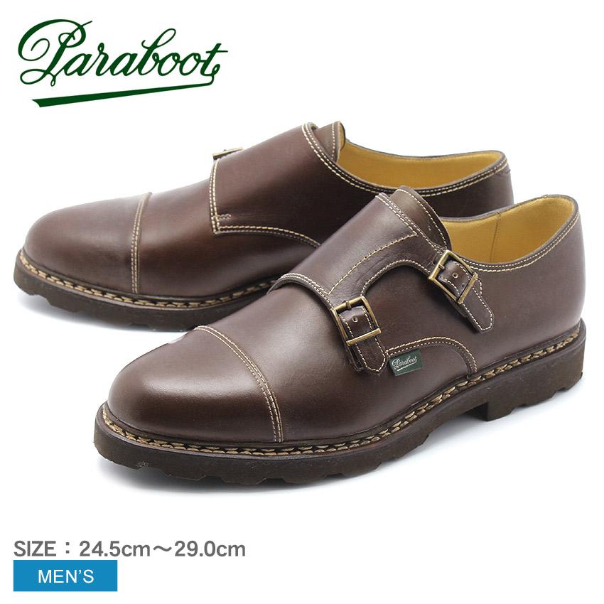 PARABOOT パラブーツ レザーシューズ ブラウン ウィリアム WILLAM MARCHE II 9814 メンズ 靴 シューズ 紳士靴 短靴 本革 レザー ダブルモンク ストラップシューズ リスレザー カジュアル ビジネス アウトドア