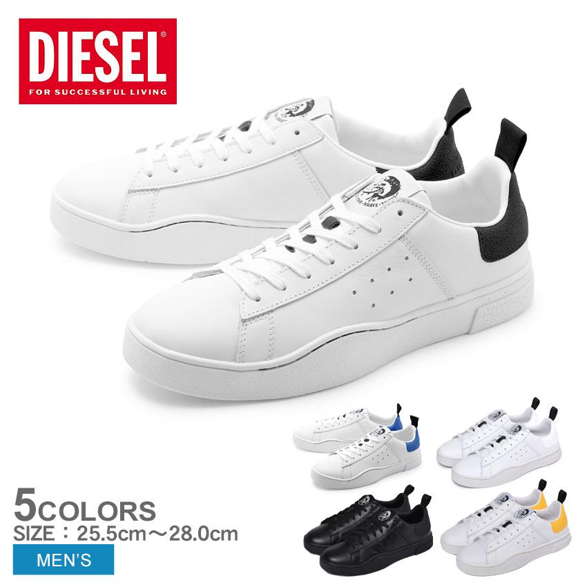 DIESEL ディーゼル スニーカー Sクレバー ロウ S-CLEVER LOW Y01748-P1729 H1527 H4034 メンズ ブランド 靴 シューズ シンプル カジュアル スポーツミックス 白