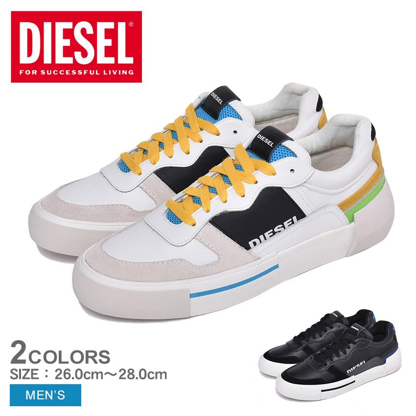 ディーゼル 靴 スニーカー メンズ 黒 白 ローカット DIESEL S-DESE MG LOW Y02109-P2462 シューズ ブランド カジュアル レザー 靴 ブラック ホワイト