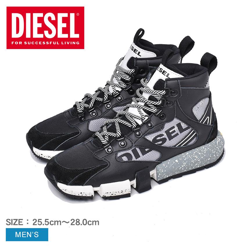 ディーゼル 靴 スニーカー メンズ ブラック 黒 ハイカット ミドルカット DIESEL S-PADOLA MID TREK Y02113-P2732 シューズ ブランド カジュアル スポーティ おしゃれ