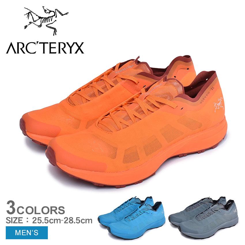 ARC'TERYX アークテリクス ランニングシューズ ノーバン SL NORVAN 24074 メンズ 靴 シューズ スニーカー アウトドア スポーツ テクニカルトレイル 軽量 快適 レッド ブルー グレー 赤 青
