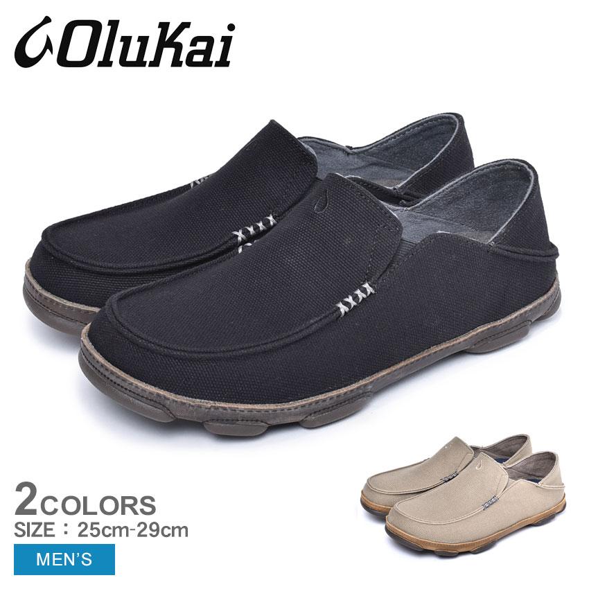 OLUKAI オルカイ スリッポン モロア カパ MOLOA KAPA 10368 4026 1013 カジュアルシューズ ハワイ メンズ 靴 シューズ おしゃれ カジュアル シンプル 黒