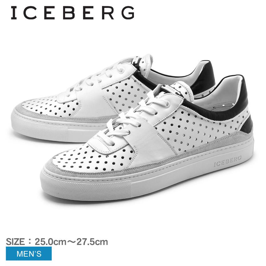 アイスバーグ ICEBERG スニーカー 16EIU409A メンズ(男性用) シューズ 天然皮革 カジュアル スニーカー 高級靴 高級スニーカー 本革 イタリア製 ホワイト 白