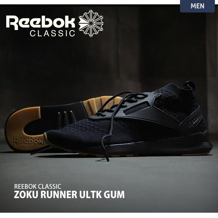クラシック リーボック Reebok メンズ シューズ 合成繊維 【公式】 [ZOKU RUNNER ULTK IS] ゾクランナー ゴム底 BS6313 ウルトラニット